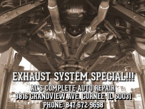 Al's Exhaust Special features special pricing on the repair and replacement of exhaust systems.